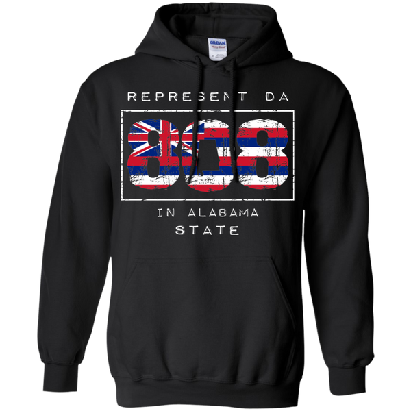 Rep Da 808 In Alabama State Pullover Hoodie 8 oz., Sweatshirts, Hawaii Nei All Day