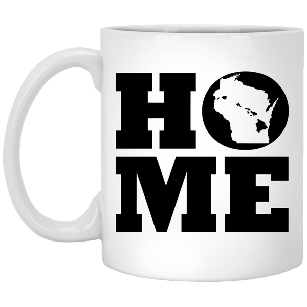 Home Roots Hawai'i and Wisconsin White Mug, Apparel, Hawaii Nei All Day