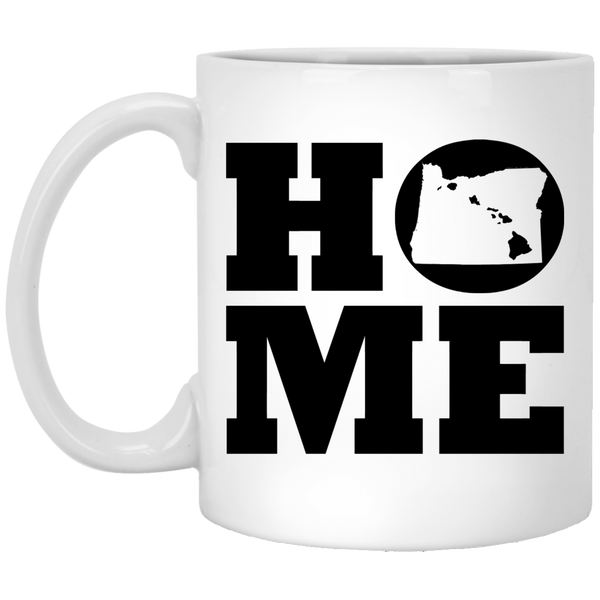 Home Roots Hawai'i and Oregon White Mug, Apparel, Hawaii Nei All Day