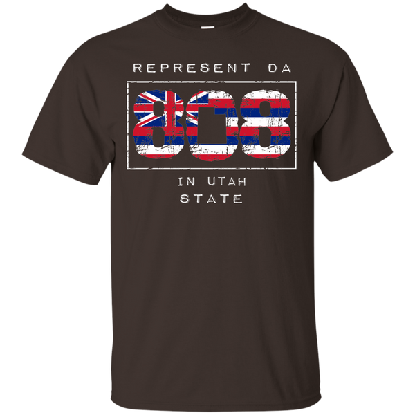 Rep Da 808 In Utah State Ultra Cotton T-Shirt, T-Shirts, Hawaii Nei All Day