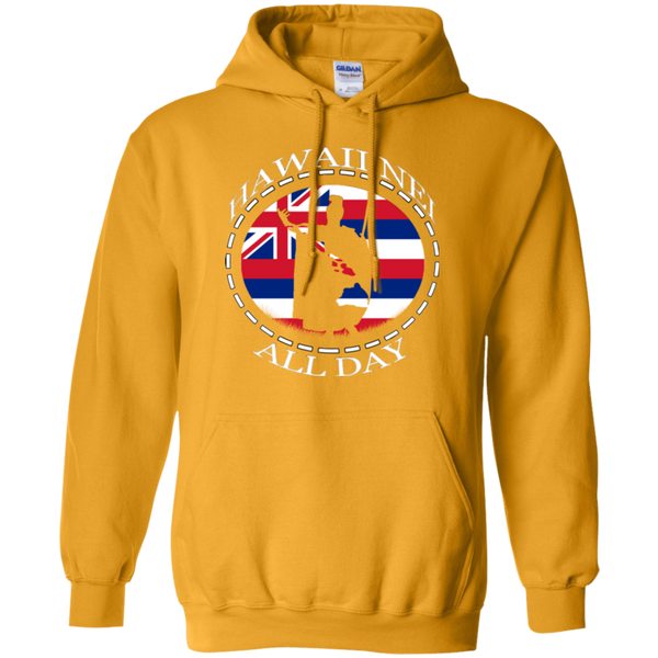The Rising Sun  Pullover Hoodie 8 oz., Sweatshirts, Hawaii Nei All Day, Hawaii Clothing Brands