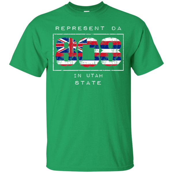 Rep Da 808 In Utah State Ultra Cotton T-Shirt, T-Shirts, Hawaii Nei All Day, Hawaii Clothing Brands