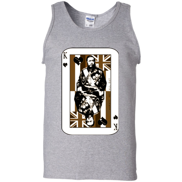 The King of Hawai'i Kalākaua 100% Cotton Tank Top, T-Shirts, Hawaii Nei All Day