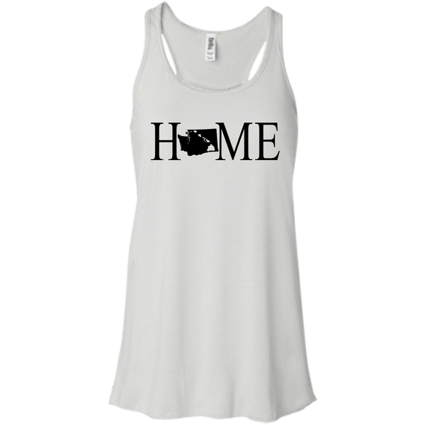 Home Hawaii & Washington Bella + Canvas Flowy Racerback Tank, T-Shirts, Hawaii Nei All Day, Hawaii Clothing Brands
