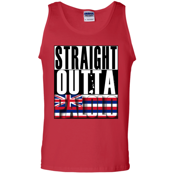 Straight Outta Palolo 100% Cotton Tank Top, T-Shirts, Hawaii Nei All Day