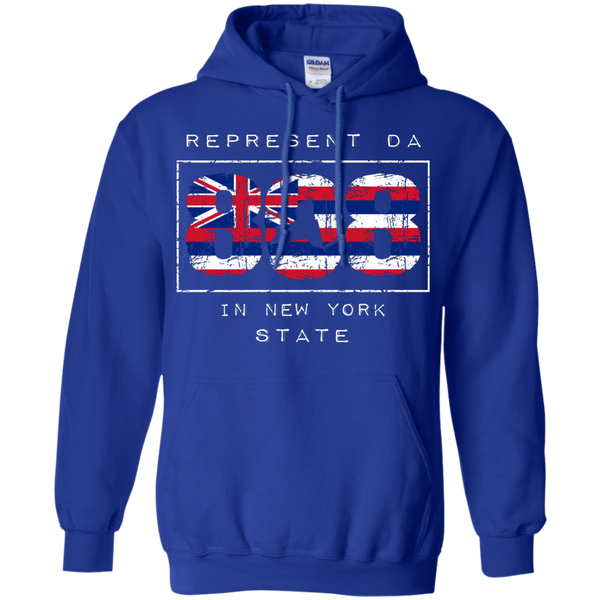 Represent Da 808 In New York State Pullover Hoodie 8 oz., Sweatshirts, Hawaii Nei All Day, Hawaii Clothing Brands