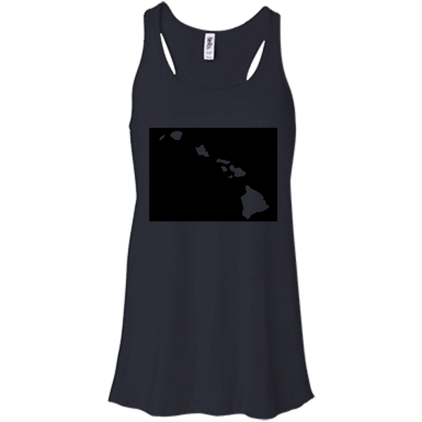 Living in Colorado with Hawaii Roots Bella + Canvas Flowy Racerback Tank, T-Shirts, Hawaii Nei All Day