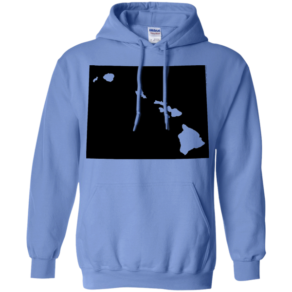 Living in Wyoming with Hawaii Roots Pullover Hoodie 8 oz., Sweatshirts, Hawaii Nei All Day