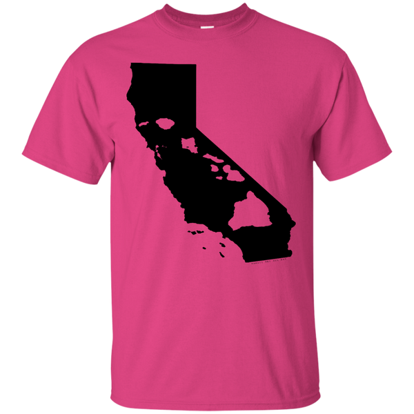 Living In Cali With Hawaii Roots Custom Ultra Cotton T-Shirt, Short Sleeve, Hawaii Nei All Day, Hawaii Clothing Brands