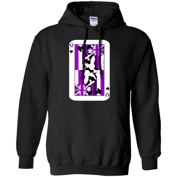 The Queen of Hawai'i Liliuokalani (purple ink) Pullover Hoodie, Sweatshirts, Hawaii Nei All Day