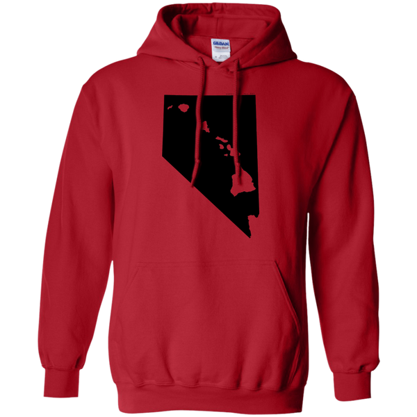 Living in Nevada with Hawaii Roots Pullover Hoodie 8 oz., Sweatshirts, Hawaii Nei All Day, Hawaii Clothing Brands