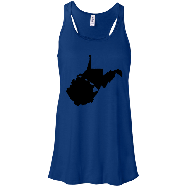 Living in West Virginia with Hawaii Roots Bella + Canvas Flowy Racerback Tank, T-Shirts, Hawaii Nei All Day