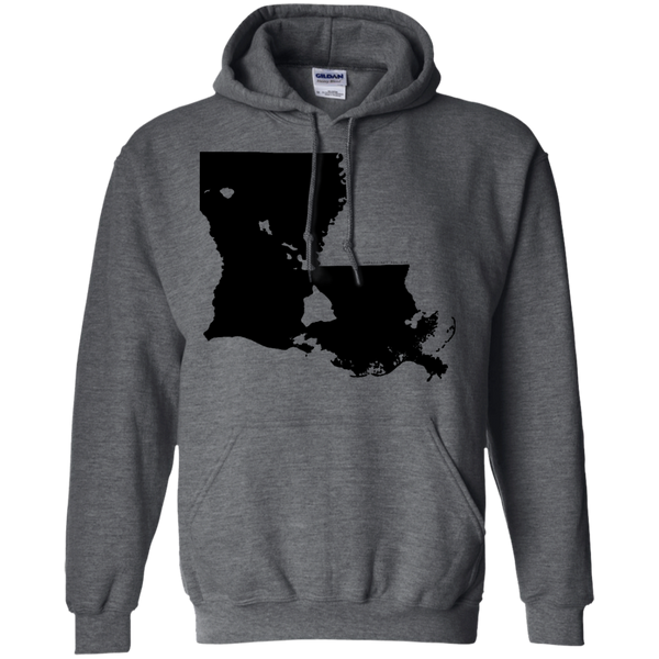 Living in Louisiana with Hawaii Roots Pullover Hoodie 8 oz., Sweatshirts, Hawaii Nei All Day