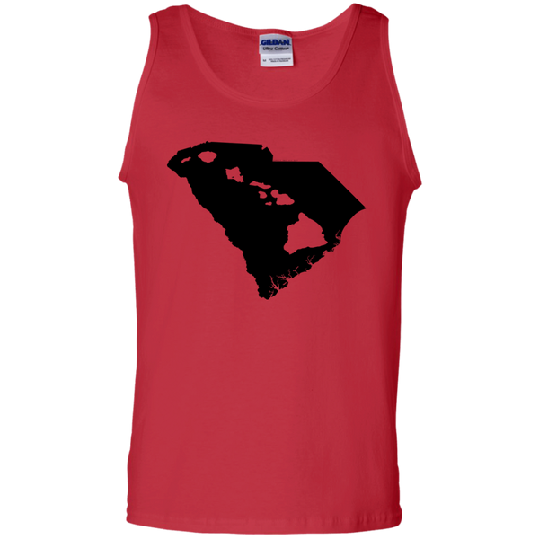 Living In South Carolina With Hawaii Roots 100% Cotton Tank Top, Sleeveless, Hawaii Nei All Day, Hawaii Clothing Brands