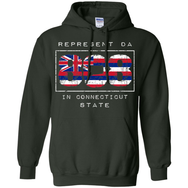 Rep Da 808 In Connecticut State Pullover Hoodie, Sweatshirts, Hawaii Nei All Day