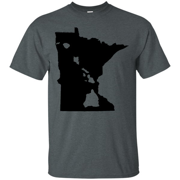 Living in Minnesota with Hawaii Roots Ultra Cotton T-Shirt, T-Shirts, Hawaii Nei All Day, Hawaii Clothing Brands