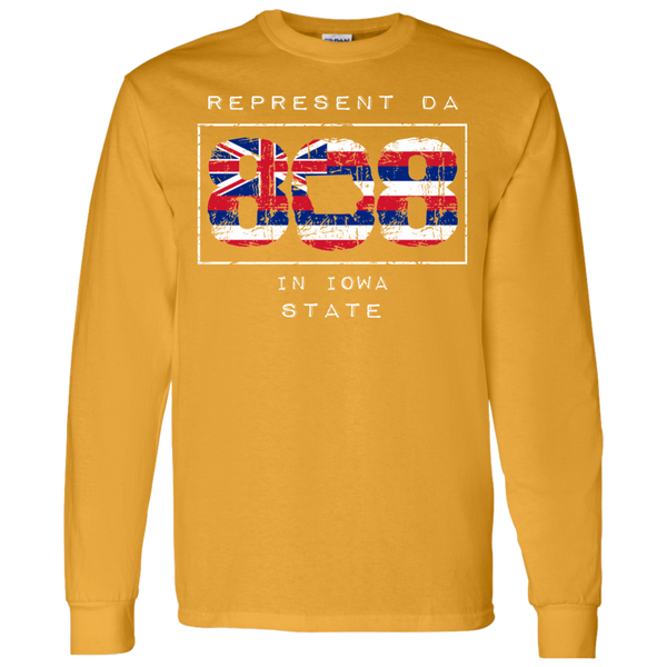 Rep Da 808 in Iowa State LS T-Shirt 5.3 oz., T-Shirts, Hawaii Nei All Day, Hawaii Clothing Brands