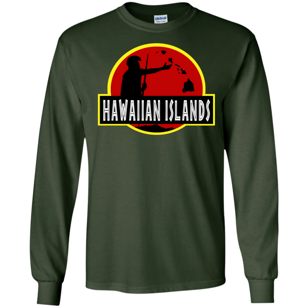 Hawaiian Islands LS Ultra Cotton Tshirt, Long Sleeve, Hawaii Nei All Day, Hawaii Clothing Brands