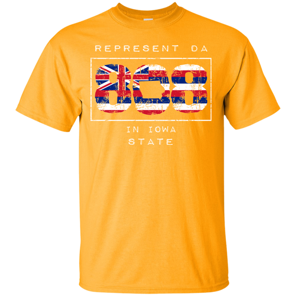 Rep Da 808 in Iowa State Ultra Cotton T-Shirt, T-Shirts, Hawaii Nei All Day