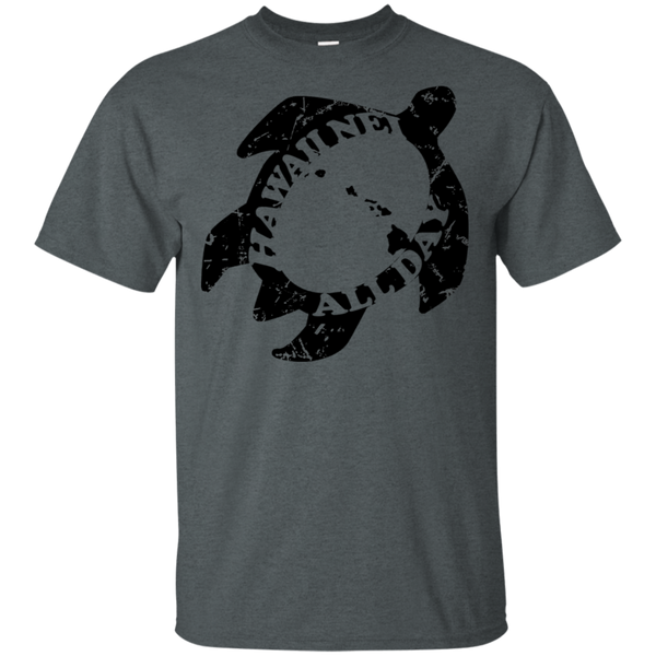 Honu Hawaiian Islands Distressed(black) Ultra Cotton T-Shirt, T-Shirts, Hawaii Nei All Day
