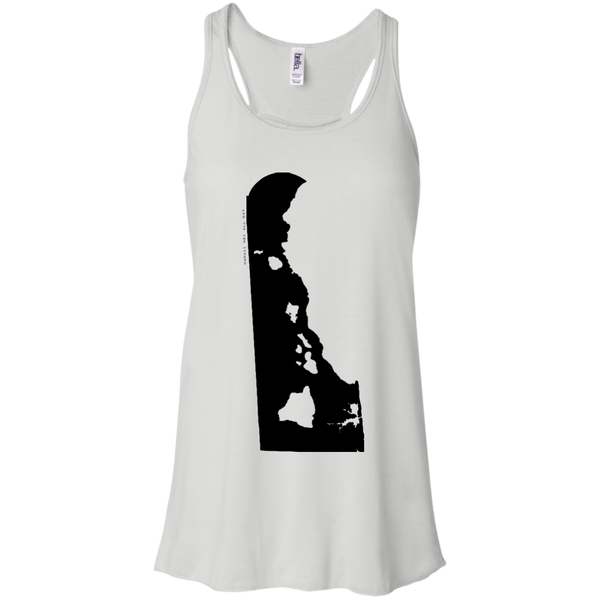 Living in Delaware with Hawaii Roots Bella + Canvas Flowy Racerback Tank, T-Shirts, Hawaii Nei All Day, Hawaii Clothing Brands