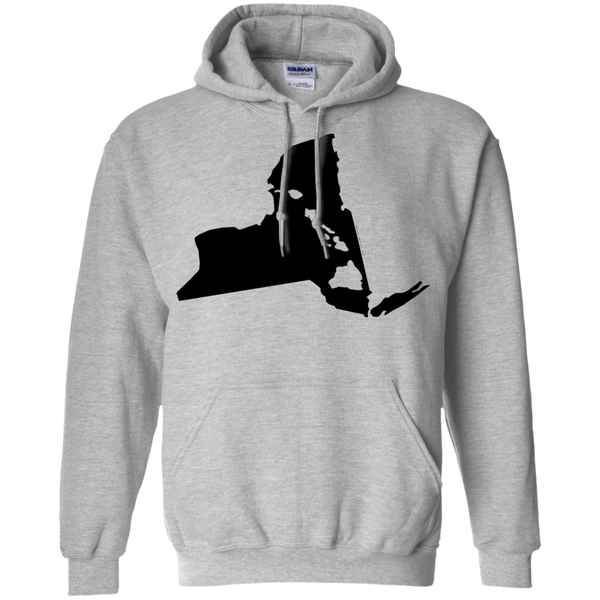 Living In New York With Hawaii Roots Pullover Hoodie 8 oz., Sweatshirts, Hawaii Nei All Day