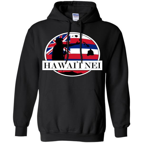 Hawai'i Nei King Kamehameha Pullover Hoodie 8 oz, Hoodies, Hawaii Nei All Day, Hawaii Clothing Brands