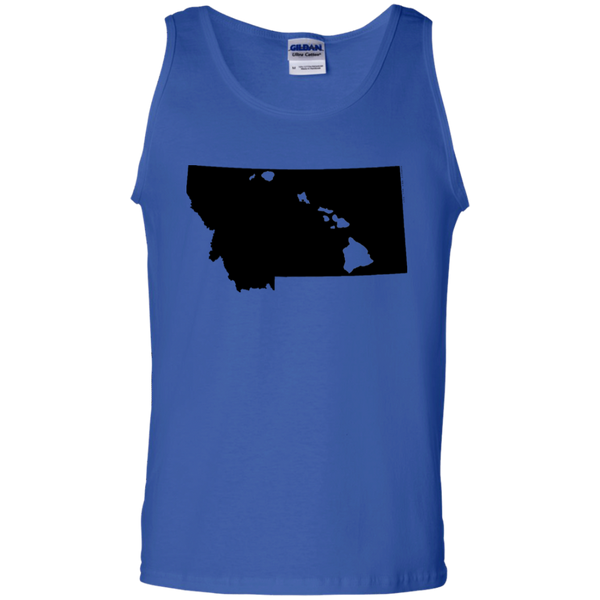 Living in Montana with Hawaii Roots 100% Cotton Tank Top, T-Shirts, Hawaii Nei All Day