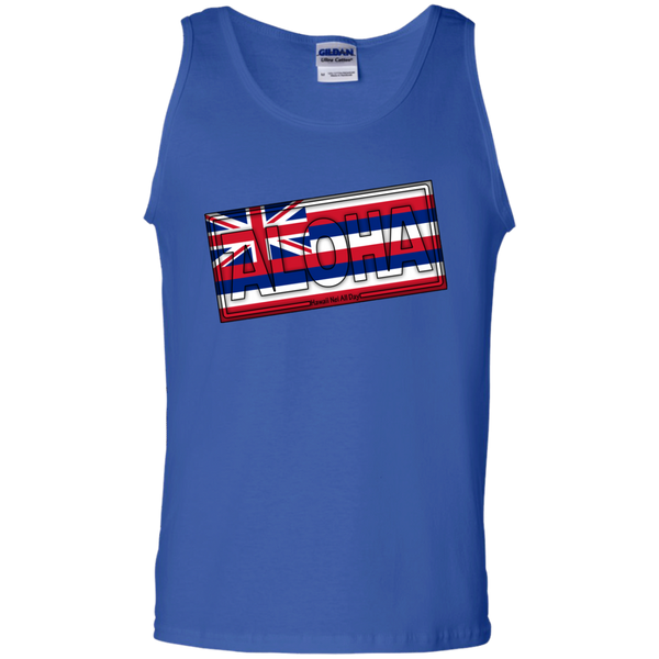 Aloha Hawai'i Flag 100% Cotton Tank Top, T-Shirts, Hawaii Nei All Day