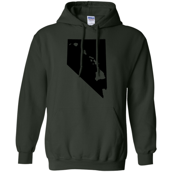 Living in Nevada with Hawaii Roots Pullover Hoodie 8 oz., Sweatshirts, Hawaii Nei All Day