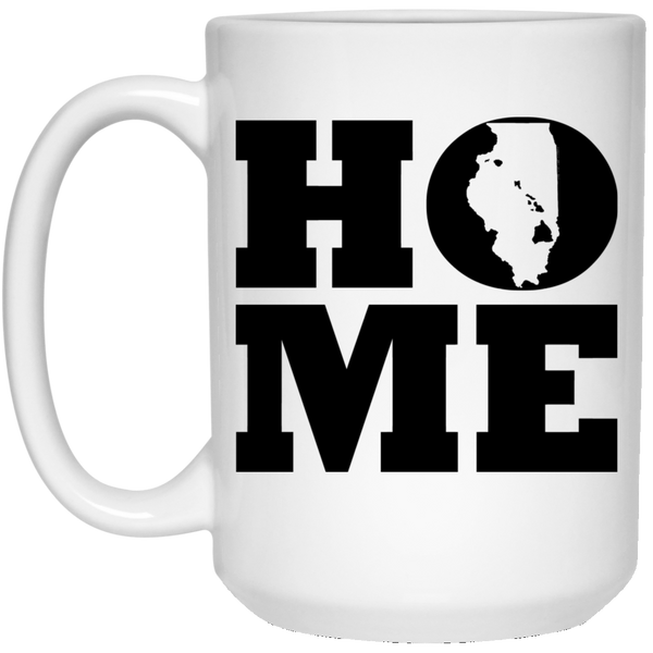 Home Roots Hawai'i and Illinois White Mug, Apparel, Hawaii Nei All Day