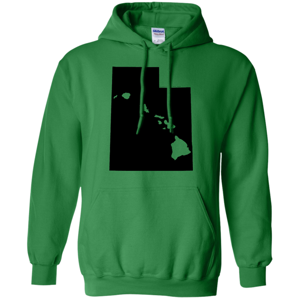 Living in Utah with Hawaii Roots Pullover Hoodie 8 oz., Sweatshirts, Hawaii Nei All Day