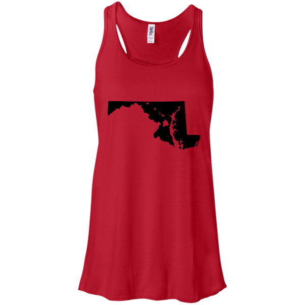 Living in Maryland with Hawaii Roots Bella + Canvas Flowy Racerback Tank, T-Shirts, Hawaii Nei All Day