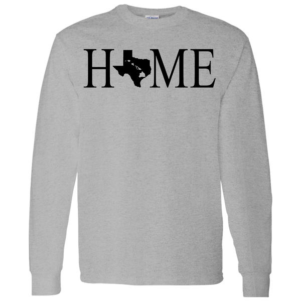 Home Hawaii & Texas LS T-Shirt 5.3 oz., T-Shirts, Hawaii Nei All Day, Hawaii Clothing Brands