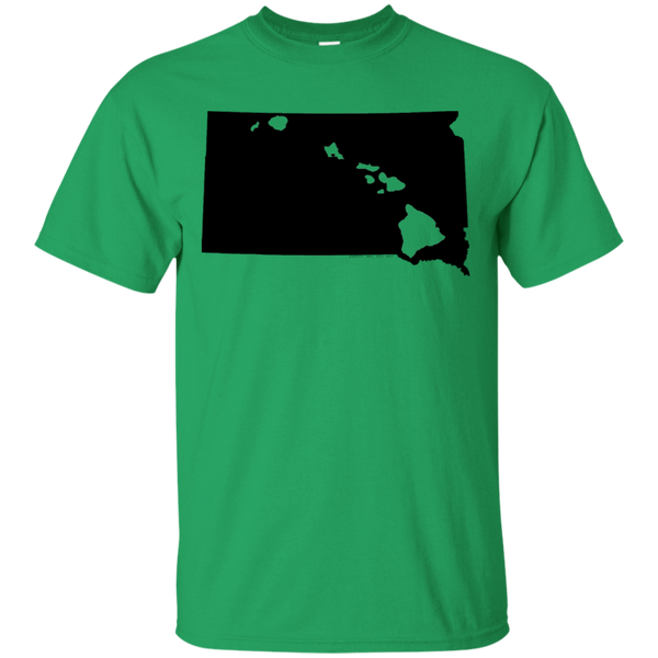Living in South Dakota with Hawaii Roots Ultra Cotton T-Shirt, T-Shirts, Hawaii Nei All Day