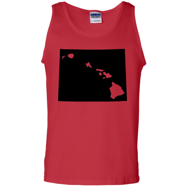 Living in Wyoming with Hawaii Roots 100% Cotton Tank Top, T-Shirts, Hawaii Nei All Day