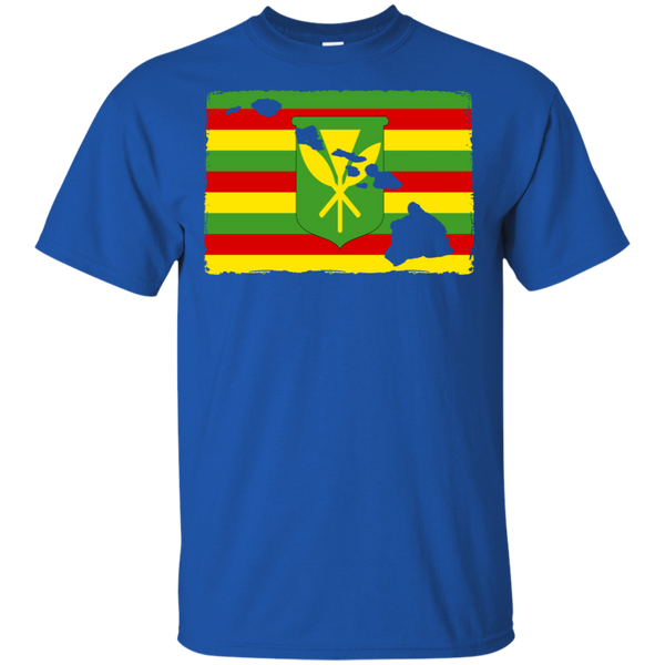 Hawai'i Kanaka Maoli Flag Ultra Cotton T-Shirt, T-Shirts, Hawaii Nei All Day