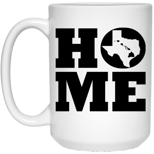 Home Roots Hawai'i and Texas White Mug, Apparel, Hawaii Nei All Day