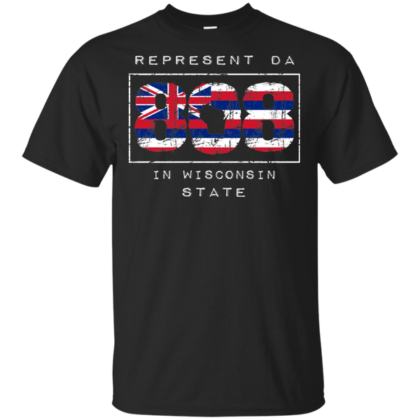 Rep Da 808 In Wisconsin State Ultra Cotton T-Shirt, T-Shirts, Hawaii Nei All Day