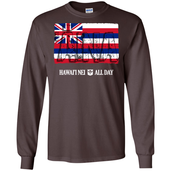'Aina Hawai'i Nei LS Ultra Cotton T-Shirt, T-Shirts, Hawaii Nei All Day, Hawaii Clothing Brands