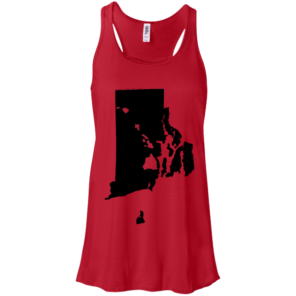 Living in Rhode Island with Hawaii Roots Bella + Canvas Flowy Racerback Tank, T-Shirts, Hawaii Nei All Day