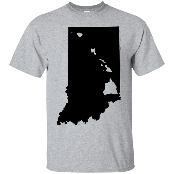 Living in Indiana with Hawaii Roots Ultra Cotton T-Shirt, T-Shirts, Hawaii Nei All Day
