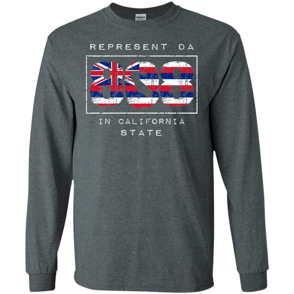 Rep Da 808 In California State LS Ultra Cotton T-Shirt, T-Shirts, Hawaii Nei All Day