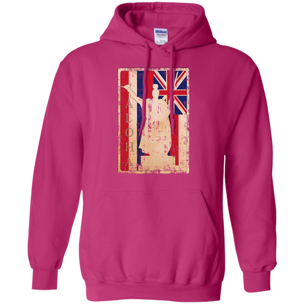 Aloha King Kamehameha Pullover Hoodie 8 oz, Hoodies, Hawaii Nei All Day, Hawaii Clothing Brands