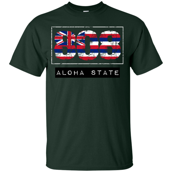 808 Aloha State Youth Custom Ultra Cotton Tee, T-Shirts, Hawaii Nei All Day