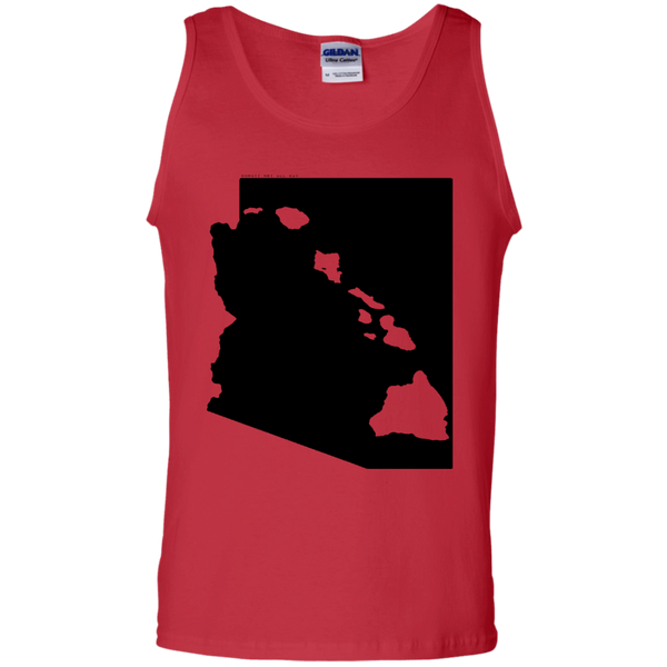 Living in Arizona with Hawaii Roots 100% Cotton Tank Top, T-Shirts, Hawaii Nei All Day, Hawaii Clothing Brands