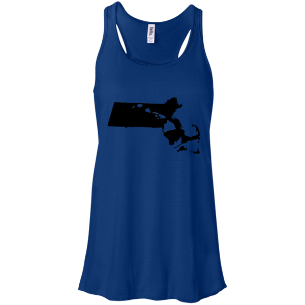 Living in Massachusetts with Hawaii Roots Bella + Canvas Flowy Racerback Tank, T-Shirts, Hawaii Nei All Day