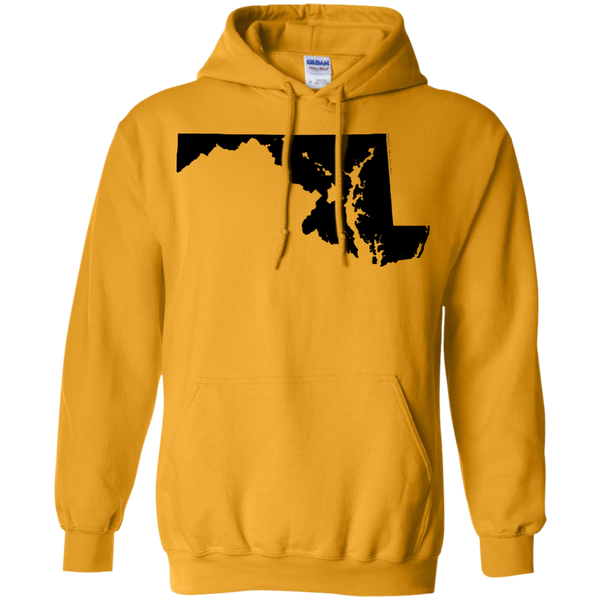 Living in Maryland with Hawaii Roots Pullover Hoodie 8 oz., Sweatshirts, Hawaii Nei All Day