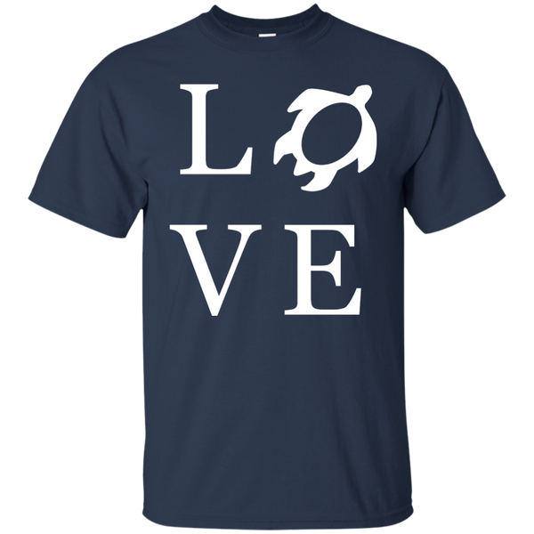 Honu LOVE Custom Ultra Cotton T-Shirt, Short Sleeve, Hawaii Nei All Day