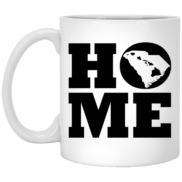 Home Roots Hawai'i and South Carolina White Mug, Apparel, Hawaii Nei All Day